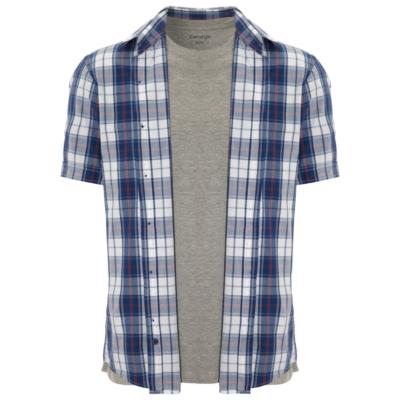 Men's Tops George 2 Piece T-Shrit and Shirt Set - Navy