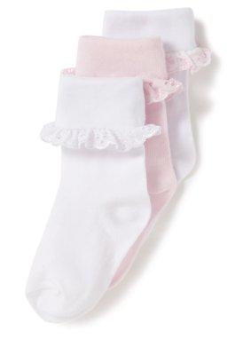 3 Pack Frill Baby Socks