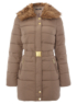 Moda Belted Coat - Brown main view