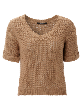 Tape Knit V Neck Jumper