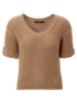 Tape Knit V Neck Jumper main view