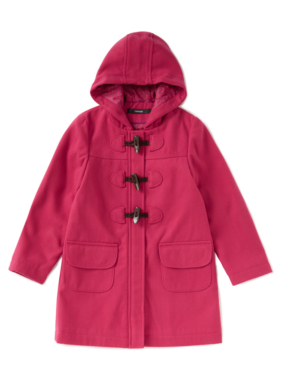Hooded Duffle Coat - Pink