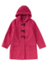Hooded Duffle Coat - Pink main view
