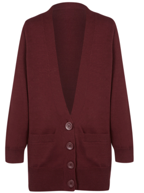 Girls School Boyfriend Cardigan - Burgundy