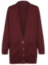 Girls School Boyfriend Cardigan - Burgundy main view