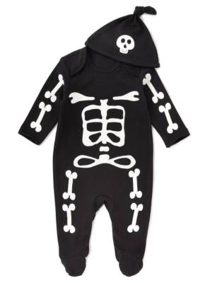 baby toddler Skeleton Halloween Costume