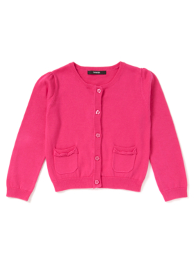 Bow Pocket Cardigan - Pink