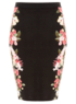 Floral Ponte Pencil Skirt main view