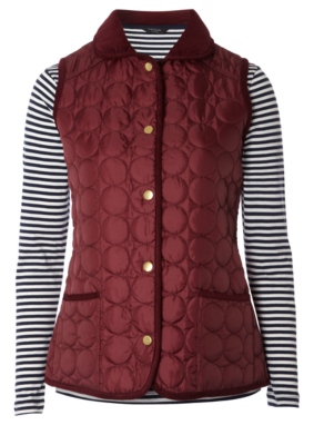 Moda Gilet and Striped Top - Berry