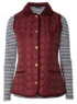 Moda Gilet and Striped Top - Berry main view