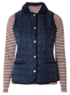 Moda Gilet and Striped Top - Navy main view
