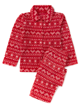 Fairisle Print Fleece Pyjama Set