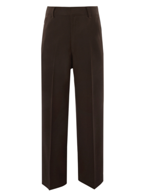 Boys School Flat Front Trousers - Brown