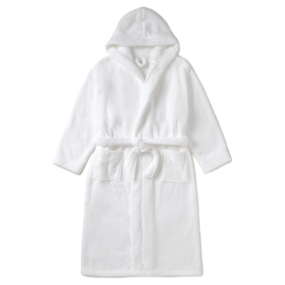 George Hooded Super Soft Dressing Gown - White