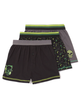 3 Pack Skull Boxer Shorts