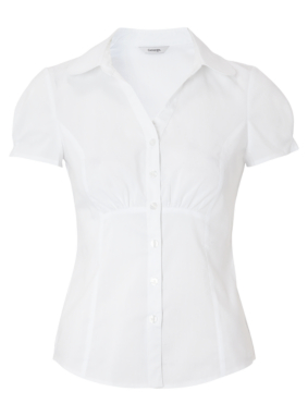 Short Sleeved Formal Blouse - White