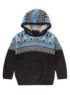 Skull Fairisle Knit Hoody main view