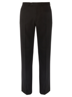 Regular Fit Formal Trousers - Black