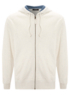 Zip Through Hoody - White Marl main view