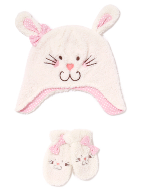 Bunny Hat and Mitts