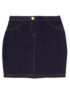 Jersey Denim Skirt - Blue main view