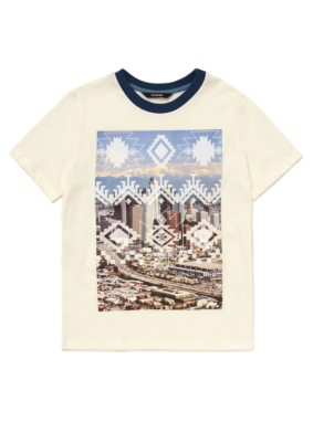 Aztec City Print T-Shirt