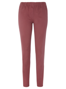 Moda Jeggings - Burgundy
