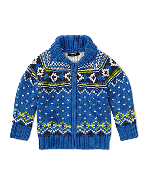Children's Festive Zip Cardigan - Asda
