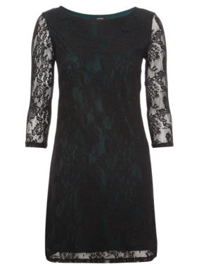 Lace Overlay Formal Dress