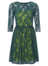 Lace Overlay Formal Dress - Green main view