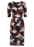 Moda Floral Jersey Wrap Dress main view