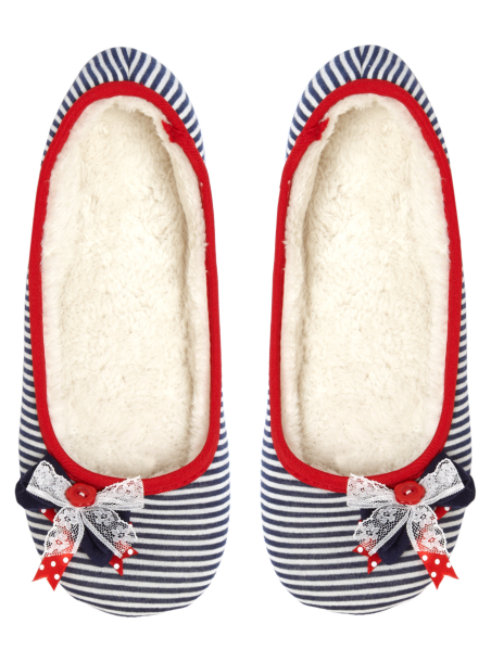 striped ballerina slippers