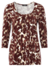 Moda Animal Print Jersey Top main view