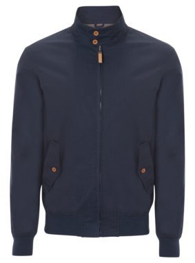 Casual Harrington Jacket - Navy