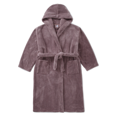 George Hooded Dressing Gown - Chocolate