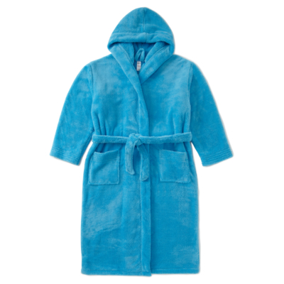 George Super Soft Hooded Dressing Gown - Turquoise