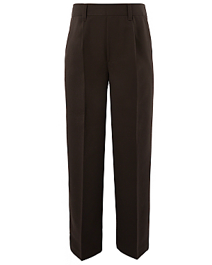 Read all Boys Brown Half Elasticated Waist School Trousers reviews Boys Brown Half Elasticated Waist School Trousers is rated out of 5 by Rated 5 out of 5 by eldaniel from Very good value for money Cheapest brown school trousers you can find/5(40).