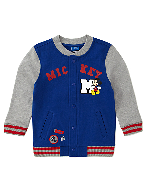 Very Rare Walt Disney 'Mickey Mouse' Wool & Leather Red Varsity Jacket M-L (AS SEEN WORN BY MICHAEL JACKSON) $1, $1, Very Rare Walt Disney 'Mickey Mouse' Wool & Leather Sleeve Varsity Jacket M- to L (AS WORN BY MICHAEL JACKSON).