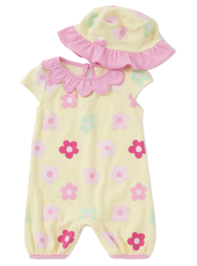 Flower Baby All in One & Hat Set
