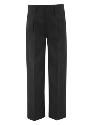 Boys School Half Elasticated Waist Trousers - Charcoal
