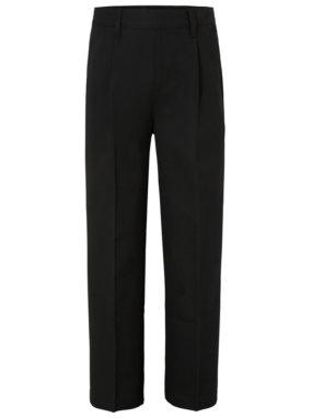 Boys School Half Elasticated Waist Trousers - Black