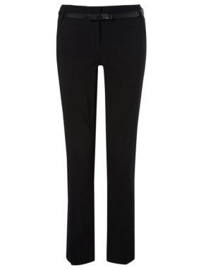 Senior Belted Bootcut Trousers - Black