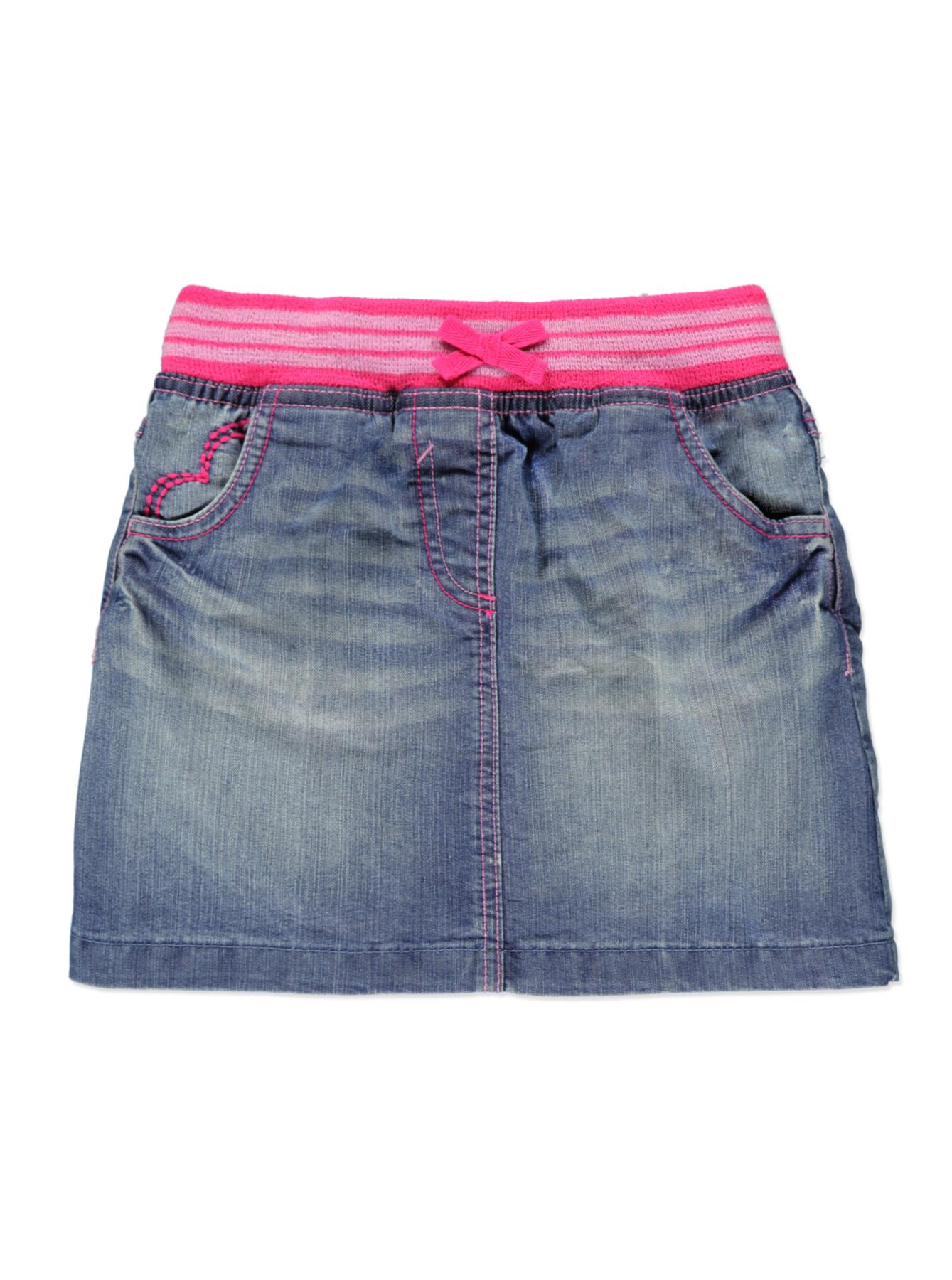 Как сшить джинсовую юбку для девочки из старых джинсов 31