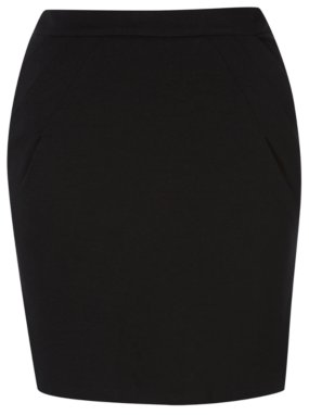 Girls School Senior Jersey Pocket Skirt - Black
