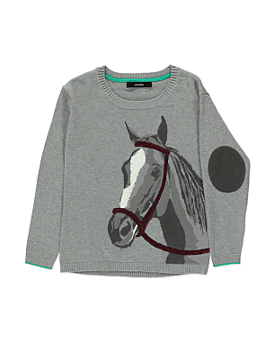 horse design knitted sweater girls george at asda. Black Bedroom Furniture Sets. Home Design Ideas