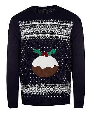 Christmas Pudding Jumper Men George At Asda