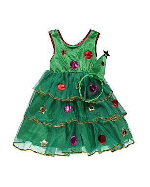 christmas tree dress and headband girls george at asda. Black Bedroom Furniture Sets. Home Design Ideas