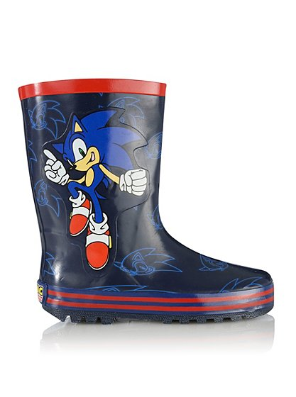 Sonic The Hedgehog Wellington Boots Boys George At Asda