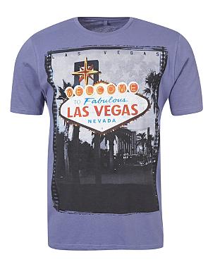 Las vegas photo print t shirt men george at asda for Las vegas shirt printing