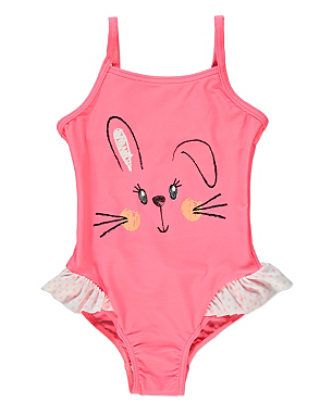 Bunny Face Swimsuit Girls George At Asda